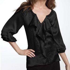 Diane Von Furstenberg Jael Silk ruffle blouse top